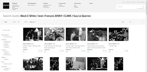Les photos de JF par Guy Le Querrec à l'agence Magnum